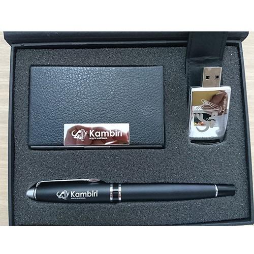 GSV 002 - Giftset USB Da, Bút, Hộp NameCard