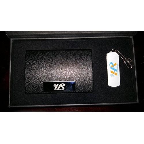 GSV 006 - Bộ Giftset, USB Da, Bút Kim Loại, Hộp NameCard