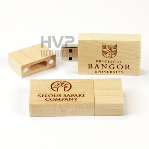 UGV 005 - USB Vỏ Gỗ Nắp Đậy